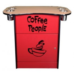 All State OCS250RED Office Coffee Stand with Shelf Red
