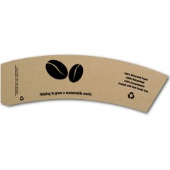 BriteVision Eco Beans 12-20 Oz. Insulating Hot Cup Coffee Sleeve