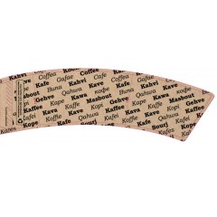 BriteVision World Languages 12-20 Oz. Insulating Hot Cup Coffee Sleeve