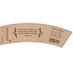 BriteVision Coffee Quotes 12-20 Oz. Insulating Hot Cup Coffee Sleeve