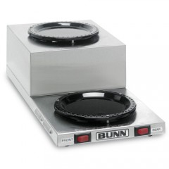 Bunn WL2 Stainless Steel Step Up Decanter Warmer - Dual Burner
