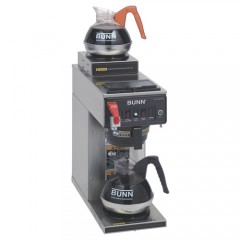 Bunn CWTF15-2 12 Cup Automatic Coffee Brewer Up/Low Warmers 3.8 g/hr