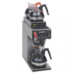 Bunn CWTF15–3 12 Cup Automatic Coffee Brewer with Upper/Lower Warmer