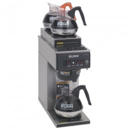 Bunn CWT15 Automatic 12 Cup Coffee Brewer with 2 Upper and 1 Lower