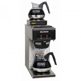 Bunn VP17-2 SS Low Profile Pourover Coffee Brewer w/ 2 Warmers