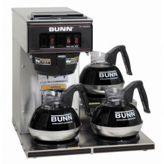 Bunn VP17-3 Stainless Steel Pourover Brewer w/ 3 Lower Warmers