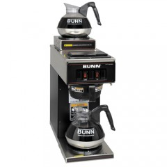 Bunn VP17-2 Low Profile Pourover Coffee Brewer Upper/Lower Warmers