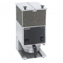 Bunn LPGE Low Profile 6 lb. Grinder - Double Hopper