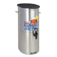 Bunn TDO-5 5 Gallon Iced Tea Dispenser with Solid Plastic Lid