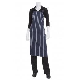 Chef Works A100NCS0 Navy Chalk Stripe English Chef's Apron