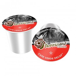 Hurricane Coffee Cape Verde Decaf Cups, 4 Boxes of 24 Cups, 96 Total