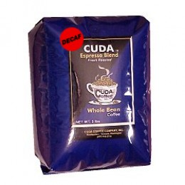 Cuda Coffee Decaf Espresso Blend Fresh Roasted Drip Ground Gourmet 5lb