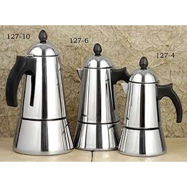 Stovetop Coffee Maker Gift : European Gift 127-10 Stainless Steel Konica Stovetop Espresso Maker