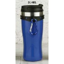 European Gift 314BL Blue Tumbler with Hang Clip & Screw Lid 16 oz