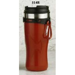 European Gift 314R Red Tumbler with Hang Clip & Screw Lid 16 oz