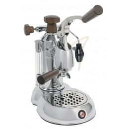 La Pavoni ESW-8 Stradavari 8 Cup Lever Espresso Machine Chrome/Wood