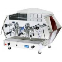 La Pavoni DIA 2V-R 2-Group Diamante Volumetric Espresso Coffee Machine, Ruby Red, 14L Boiler
