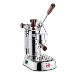La Pavoni PCW-16 Professional 16cup Lever Espresso Machine Chrome/Wood Base