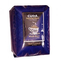 Cuda Coffee Espresso Blend Fresh Roasted Gourmet 5lb