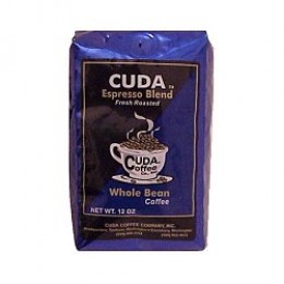 Cuda Coffee Espresso Blend Fresh Roasted Gourmet 1lb