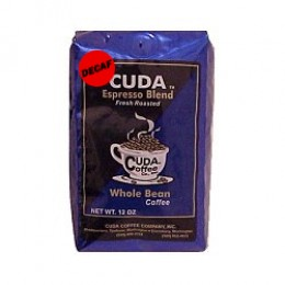 Cuda Coffee Decaf Espresso Blend Fresh Roasted Drip Ground Gourmet 1lb