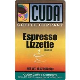 Cuda Coffee Espresso Lizette 1lb