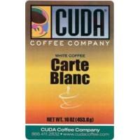 Cuda Coffee White Coffee Carte Blanc 1lb