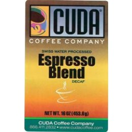 Cuda Coffee Espresso Blend Decaffeinated 1lb