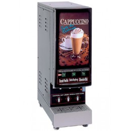 Cecilware 3K-GB-NL Cappuccino Dispenser Three Hoppers and Sign 120V