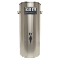 Cecilware 3 Gallon Stainless Steel Iced Tea Dispenser with Handles