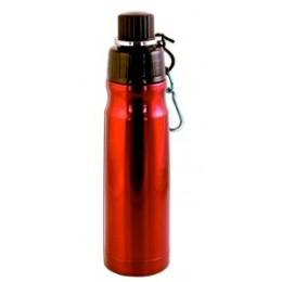 Stainless Steel Water Bottle 16 oz Red