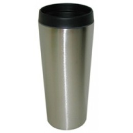 Stainless Steel Insulated Travel Mug 14 oz Silver