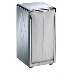 Table Top Napkin Dispenser Tall Fold Stainless Steel