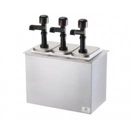 Server Drop-In Insulated Bar w/ 3 Solution Pumps