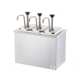 Server 83860 Drop-In Serving Bar w/ Three Stainless Steel Pumps