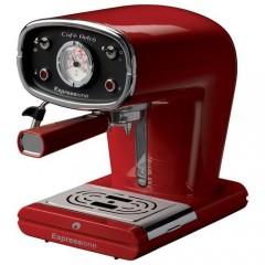 Espressione Cafe Retro Pump Espresso Machine Italian Red