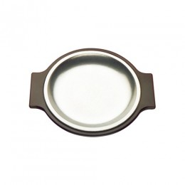 Tomlinson 1006356 Round Deep Dish Dinner Platter Burnish Finish 12/CS