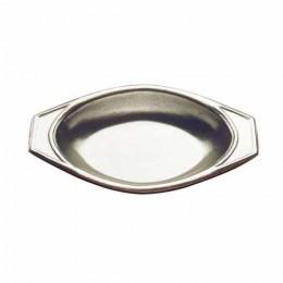 Tomlinson 1006401 Solid Cast Aluminum Oval 12 oz Casserole Dish 12/CS