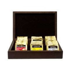 Tomlinson Tea Box Mahogany Finish 24/CS