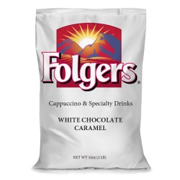 Folgers Cappuccino Mix White Chocolate Caramel, 2 lbs ea. 6 Bags Total