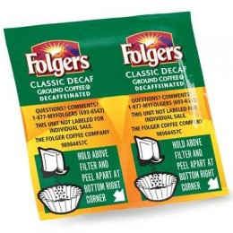 Folgers Classic Roast Decaf Vacket, .9 oz Each, 42 Vackets Total