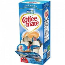 Coffee Mate French Vanilla Liquid Creamer, .38 oz Each, 180 Creamers