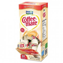 Coffee Mate Original Liquid Creamer .38 oz ea 4 boxes of 50 creamers