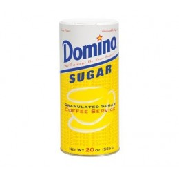 Domino Sugar Canister, 20 oz Each, 24 Cartons Total