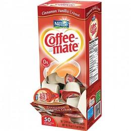 Coffee Mate Cinnamon Vanilla Liquid Creamer .38oz ea. 4box of 50-200