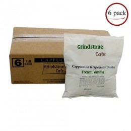 Grindstone GEN50249 French Vanilla Cappuccino 2lbs Bags, 6 Bags Total